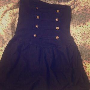 Jean strapless sailor dress